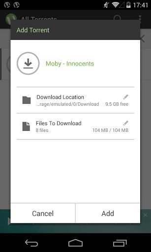Скриншот µTorrent — Torrent Downloader для Android