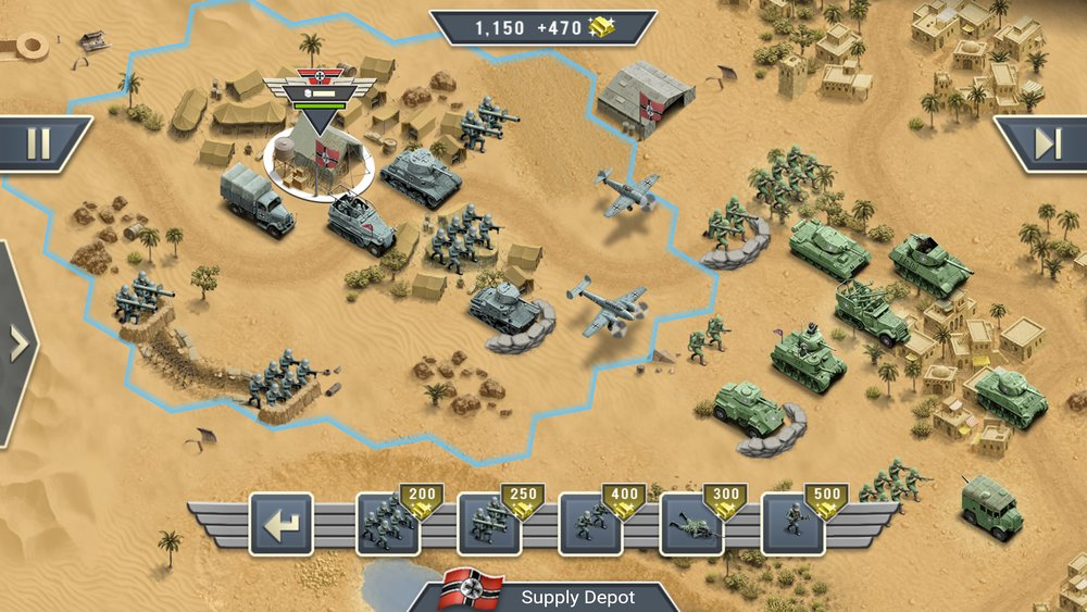 Скриншот 1943 Deadly Desert для Android