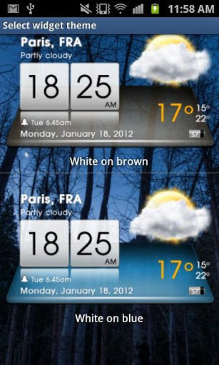 Скриншот 3D Sense Clock & Weather для Android