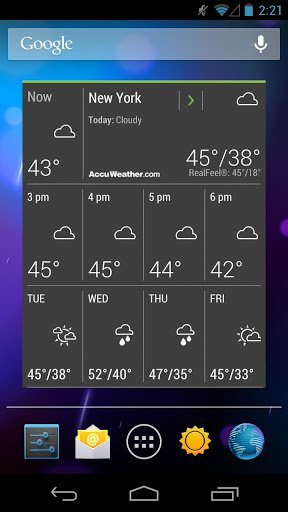 Скриншот AccuWeather для Android