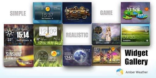 Скриншот Погода и часы стиль HTC Sense для Android