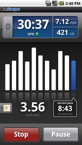 Скриншот RunKeeper для Android