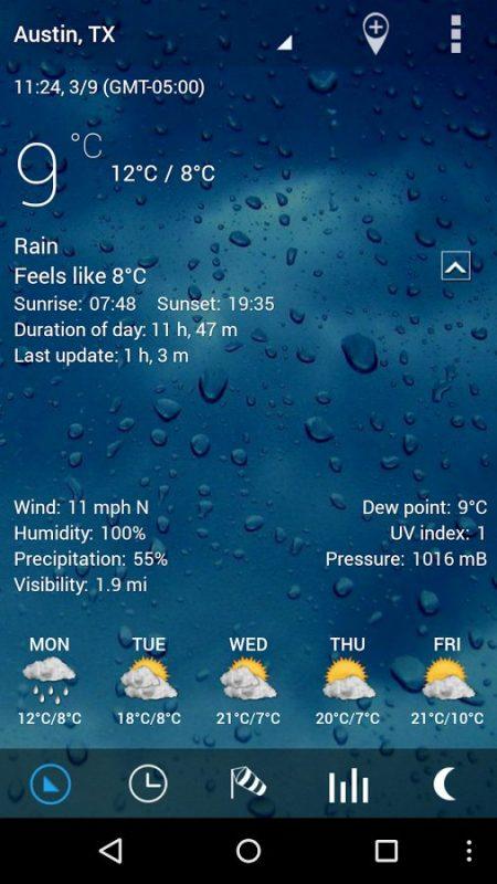 Скриншот Sense V2 Flip Clock & Weather для Android