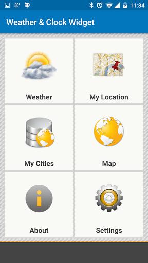Скриншот Виджет Погода и Часы — Android / Weather & Clock Widget для Android