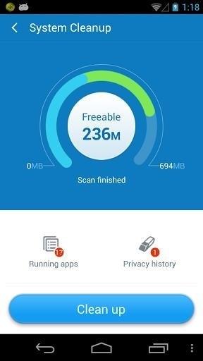 Скриншот 360 Security Aнтивирус Очистка для Android