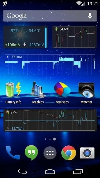 Скриншот 3C Battery Monitor Widget Pro для Android