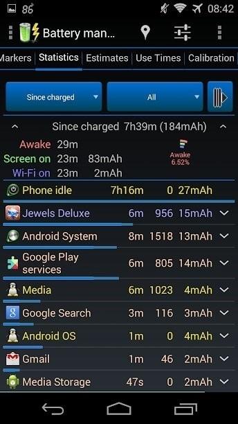 Скриншот 3C Battery Monitor Widget Pro для Android