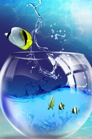Скриншот 3D аквариум живые обои HD / 3D aquarium live wallpaper HD для Android