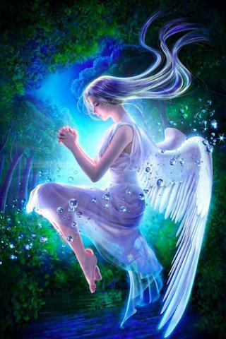 Скриншот 3D ангел живых обоев / 3D angel LWP для Android