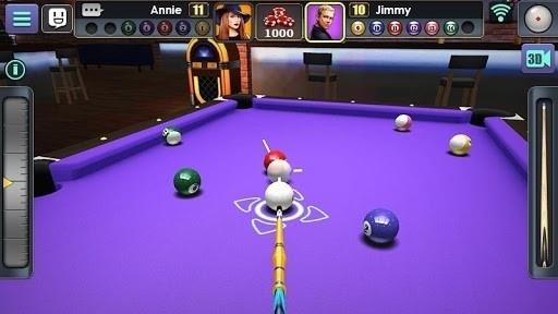 Скриншот 3D бильярд для Android