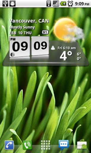Скриншот 3D Digital Weather Clock для Android