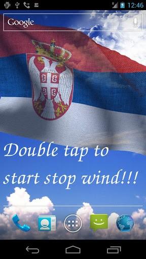 Скриншот 3D флаг Сербии LWP для Android