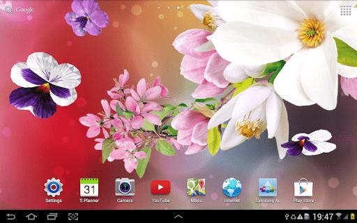 Скриншот 3D Цветы Живые Обои для Android