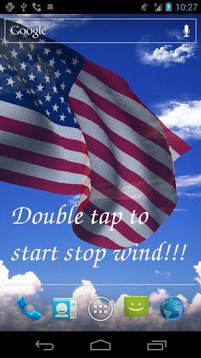 Скриншот 3D US Flag Live Wallpaper Free / Американский Флаг для Android
