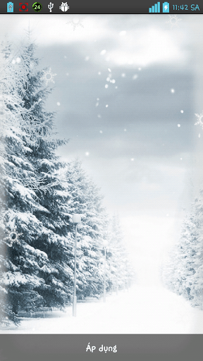 Скриншот 3D Зимние Live Wallpaper для Android