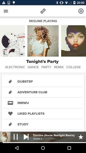 Скриншот 8tracks playlist radio для Android
