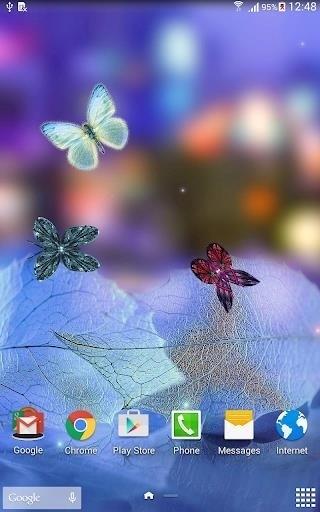 Скриншот Абстрактные Бабочки для Android