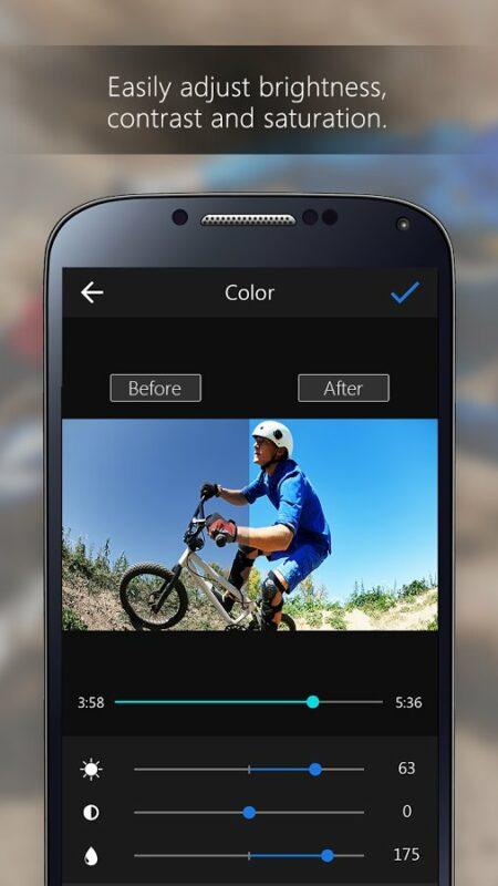 Скриншот ActionDirector Video Editor для Android