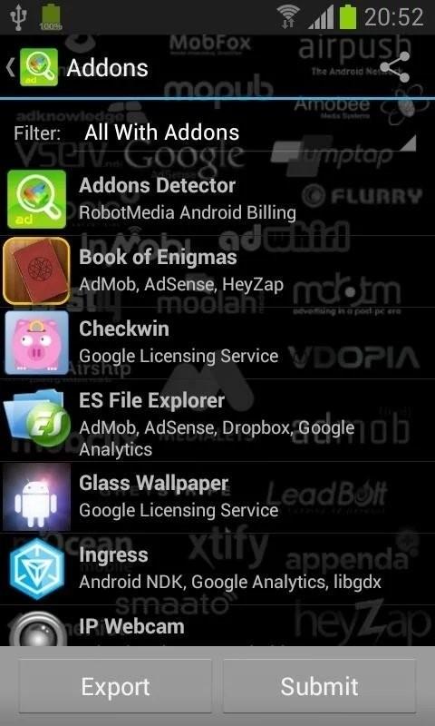 Скриншот Addons Detector для Android