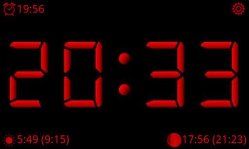 Скриншот AdyClock — ночные часы для Android