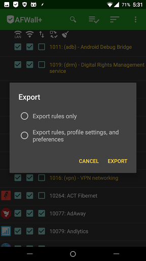 Скриншот AFWall для Android