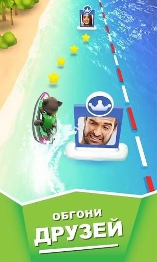 Скриншот Аквабайк Говорящего Тома для Android