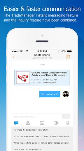 Скриншот Alibaba.com App для Android