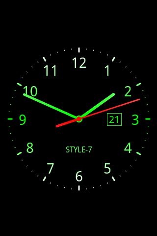 Скриншот Analog Clock Live Wallpaper-7 для Android