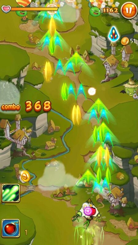 Скриншот Angry birds: Ace fighter для Android