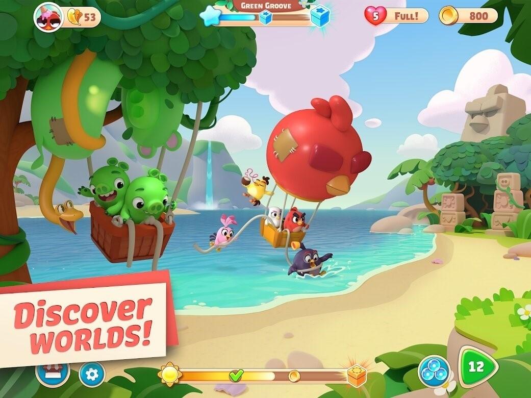 Скриншот Angry Birds Journey для Android
