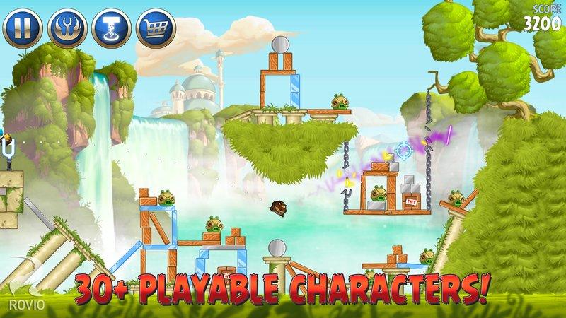 Скриншот Angry Birds Star Wars 2 для Android