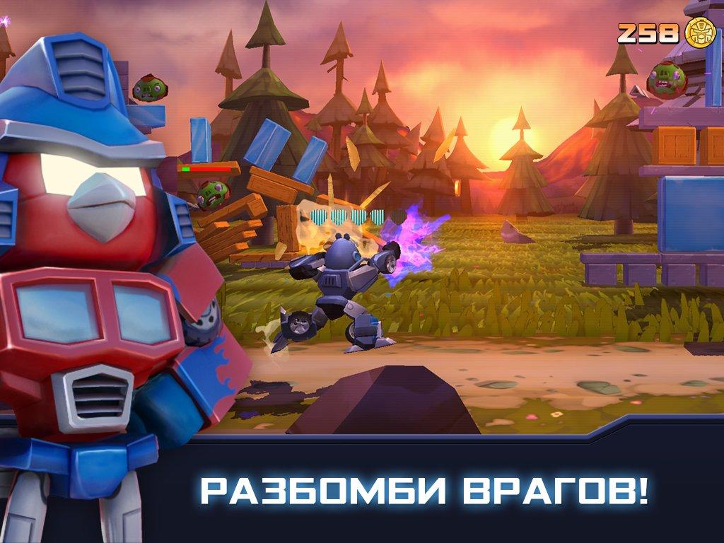 Скриншот Angry Birds Transformers для Android