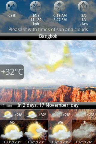 Скриншот Animated Weather Widget, Clock для Android