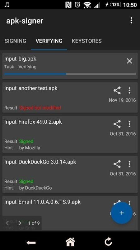 Скриншот Apk-signer для Android