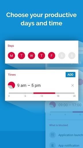 Скриншот AppBlock — Stay Focused для Android
