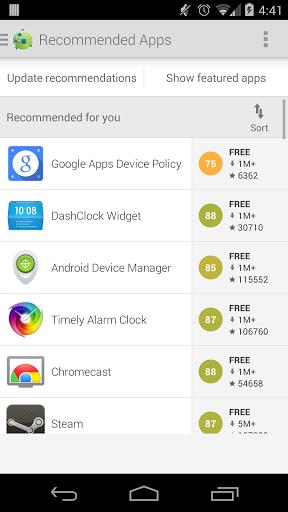 Скриншот AppBrain App Market для Android