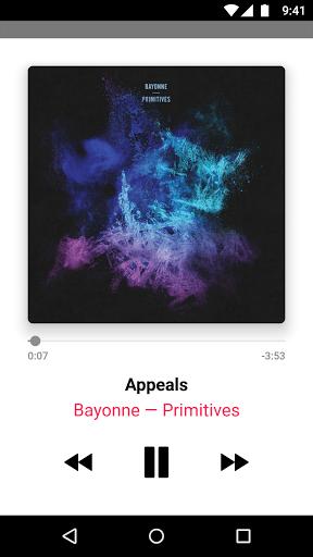 Скриншот Apple Music для Android