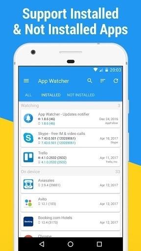 Скриншот App Watcher: Сheck Update для Android