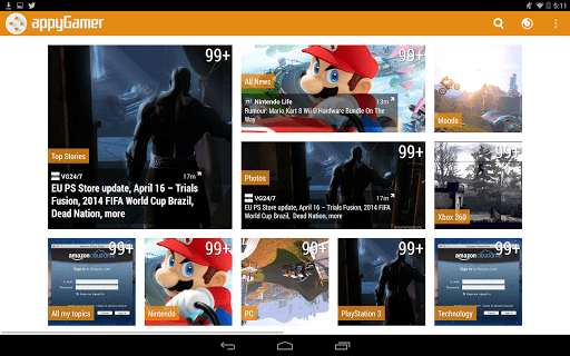 Скриншот Appy Gamer – Games news для Android