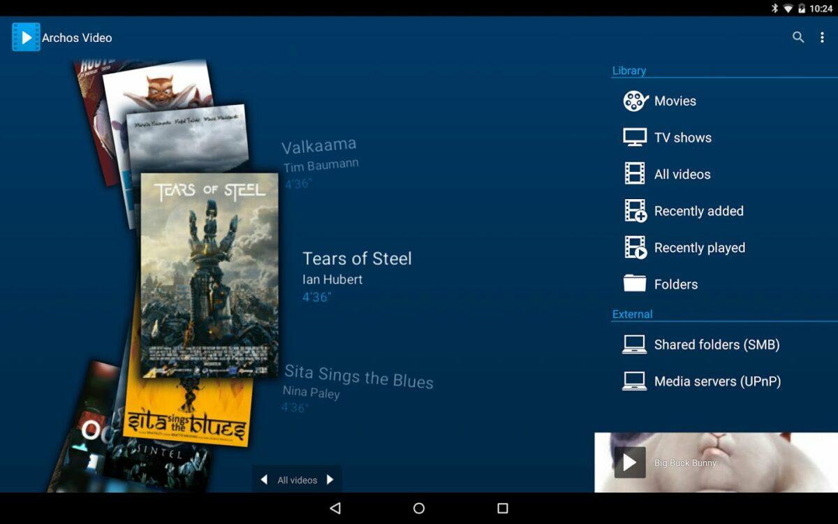Скриншот Archos Video Player для Android