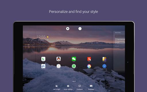 Скриншот Arrow Launcher для Android