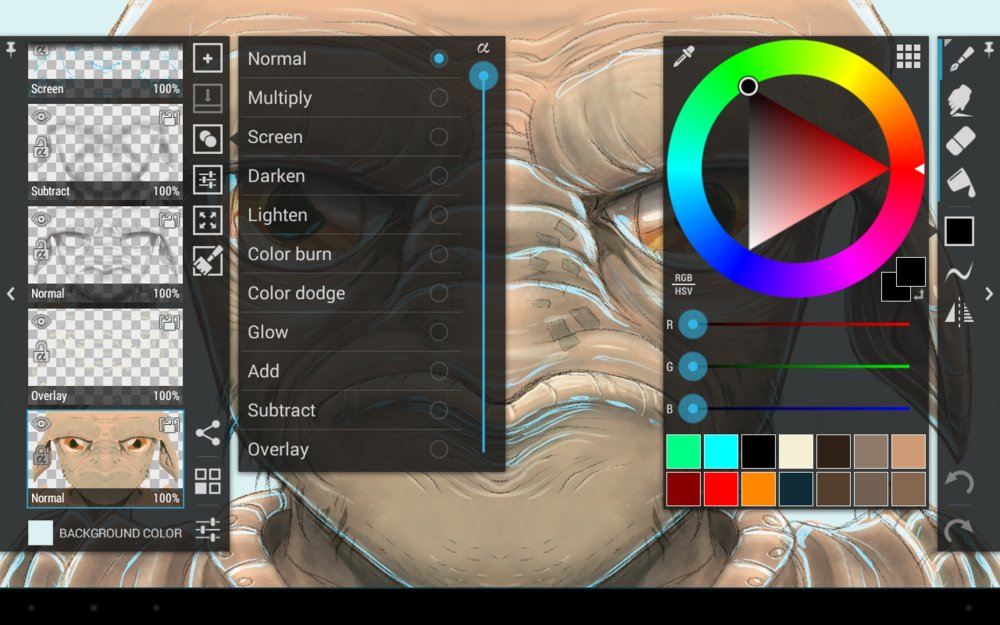 Скриншот ArtFlow: Paint Draw Sketchbook для Android