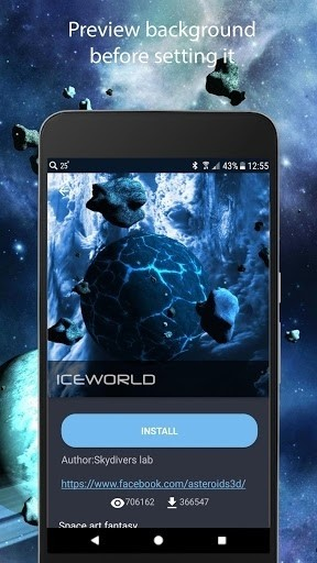 Скриншот Астероиды 3D для Android