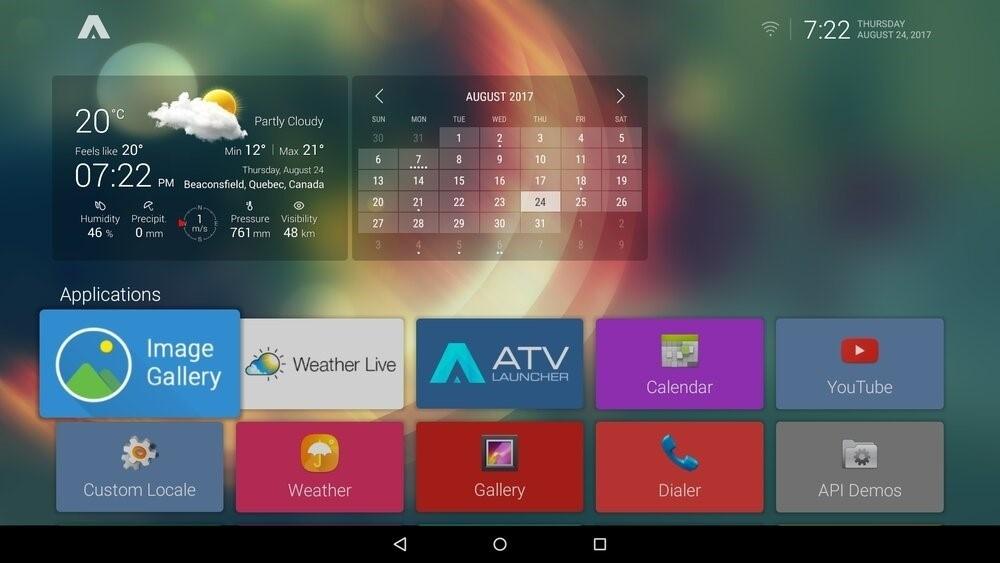 Скриншот ATV Launcher для Android