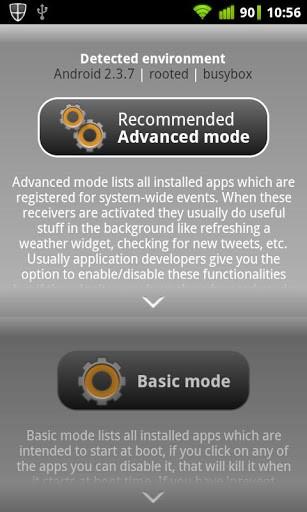 Скриншот Autorun Manager для Android