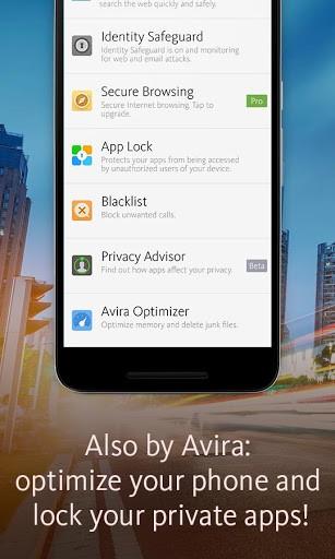 Скриншот Avira Antivirus Security для Android