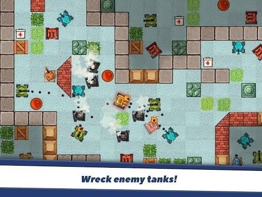 Скриншот Awesome Tanks для Android