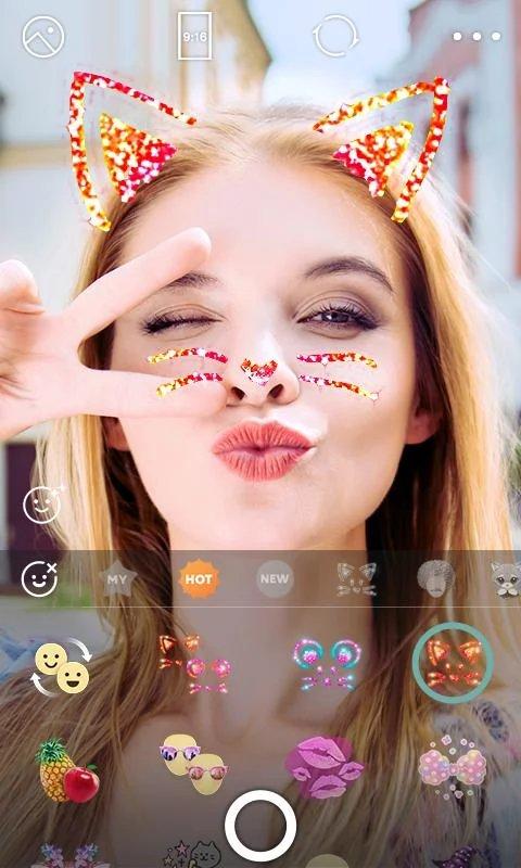 Скриншот B612 — Selfiegenic Camera для Android