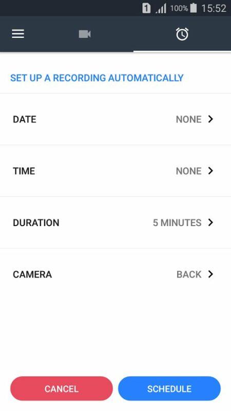 Скриншот Background Video Recorder для Android