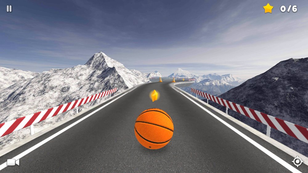 Скриншот BasketRoll: Rolling Ball для Android